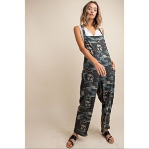 Juno - French Terry Camo Overall